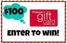 $100 walgreens gift card - super low entries!