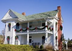 Image detail for -An Old White Farm House Decorated For Christmas Royalty Free Stock ...