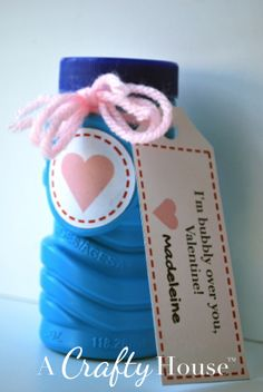 Free Valentine's Day Printable for Bubbles | A Crafty House: Knitting and Crochet Patterns and Crafts
