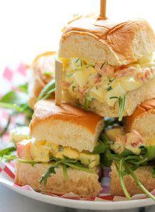 Skinny Egg Salad Sliders | RecipeLion.com