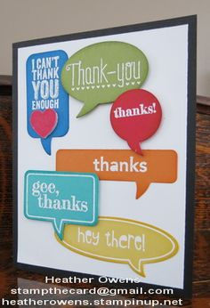 Just Sayin' and Word Bubbles framelits from Stampin' Up!