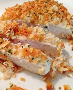 Baked Ranch Parmesan Crusted Chicken | foodsweet | foodsweet