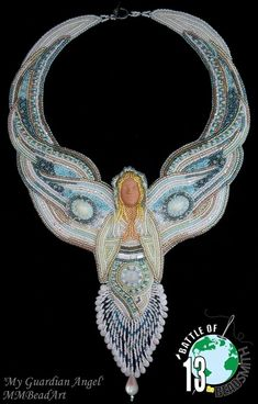 """Marlies Mast Mouthaan: """"My Guardian Angel""""  Battle of the Beadsmith 2013"""