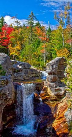 Screw Auger Falls In Grafton Notch State Park, Maine.