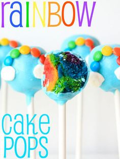 Spread a bit o' luck with these colorful rainbow pops.