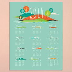Seasons 2014 Calendar www.lovevsdesign.com