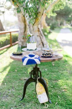 nautical inspired cake table, photo by Brooke Photography and Design http://ruffledblog.com/nautical-inspired-anniversary-shoot #caketable #weddingideas