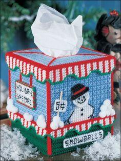 plastic canvas, tissue boxes, tissu box