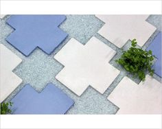criss cross concrete pavers