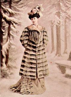 Chinchilla coat by Bechoff-David, 1906. chinchilla coat