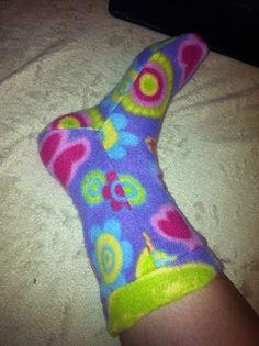 kostenloses Schnittmuster Fleecesocken , free fleece sock pattern