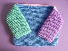 'Knitting for Charity' - Four Square Baby Jumper FREE Pattern (perfect for charity knitting, quick and only uses approx 50gm) Knit it in any stitch, colours and patterns... Have Fun!!!