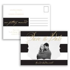Wedding Bands Save the Date Postcard by David's Bridal #savethedate #davidsbridal #weddinginvitation