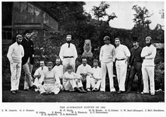 The Australian XI of 1882. The cricket team toured England and won the only test at the Oval, which was the start of the Ashes legend Pictur...