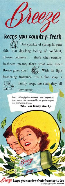 Stay country fresh with the help of Breeze soap! #vintage #ad #soap #beauty #1950s