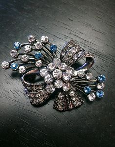 Something Blue brooch by One World Designs Bridal Jewelry