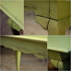 repainting and distressing furniture