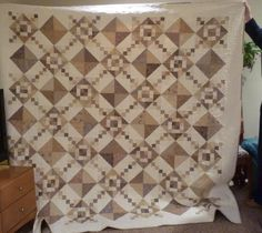 Stitches etc.: Mum's white chocolate quilt