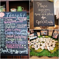 Vineyard wedding events signs