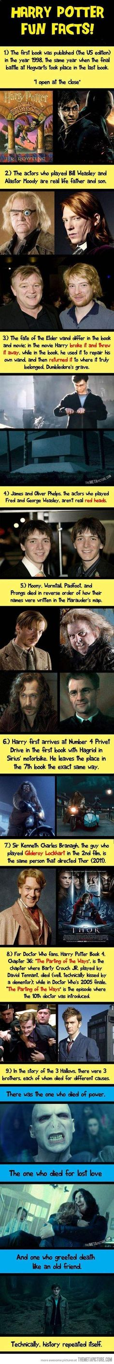 Harry Potter facts…