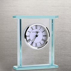 Howard Miller Clock - Executive Glass Clock at Baudville.com
