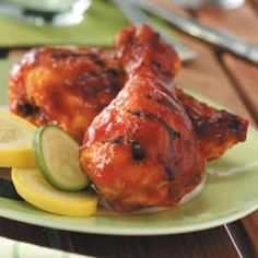 Saucy Barbecued Chicken Recipe from Taste of Home