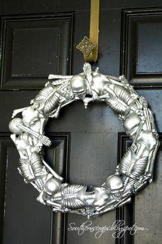 Dollar tree skeleton wreath