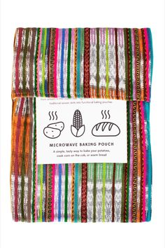Quickly and easily bake potatoes, cook corn on the cob, or warm bread with the Cotton Microwave Pouch. This pouch is handcrafted from recycled cotton skirt fabric in assorted colors by artisans working with our fair trade partner in Guatemala, Ruth & Naomi. Formed to create jobs for women widowed by civil war, the group continues to provide economic and educational opportunities for the community.