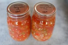 Canned Salsa from Food in Jars