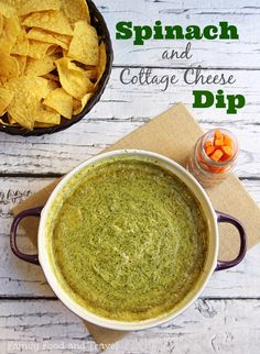 Hot Cottage Cheese Spinach Dip - Family Food And Travel