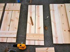 diy shutter, pin, art, wooden pallets, wood shutter