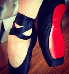 Louboutin's for the ballerina...are you kidding me!! Beautiful!