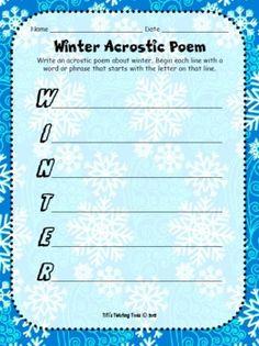 valentine's day acrostic poem worksheet
