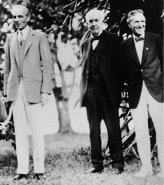 Three Inventors of the early years who made the Raring 20's possible Ford, Edison and Firestone