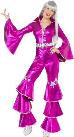 ABBA OUTFIT   Home  70s and 80s  Ladies 70s  Pink 70s Abba Costume.