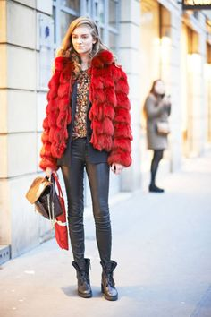 fall 2013 2014 trends | ... show in style – Paris Fashion Week Fall 2013-Winter 2014 (Elle.com) RED N BLACK
