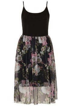 tank dress + sheer fabric