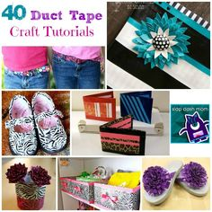 *40 DIY Duct Tape Craft Tutorials - Can't ever have too many duct tape ideas - Love that duct tape! +