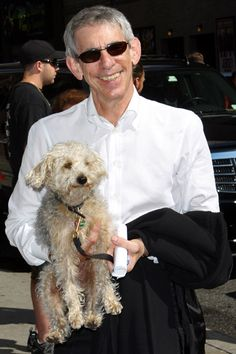 Richard Belzer - celebrities and their dogs - he looks great here and his Bichon is lovely too