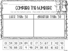 Compare numbers  using different numbers/perspective and understanding of more or less Step into 2nd Grade with Mrs. Lemons