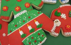 Love these decorated cookies at an Ugly Sweater party!  See more party ideas at CatchMyParty.com!  #partyideas #uglysweater