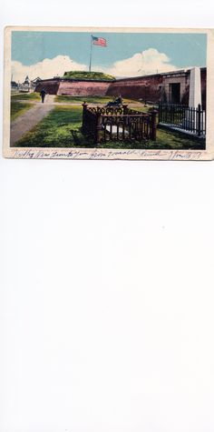 Osceola's Grave, Fort Moultrie, Charleston, S.C.  1900