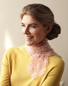I know, I know ... the irony! But this seemed the best board for it > No-Knit Rosette #Scarf   #MarthaStewart.com   #yarn #crafts