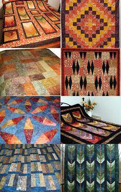 Batik Beauty Quilts -- Pinned with TreasuryPin.com