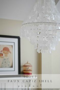 The Chronicles of Home: {DIY} Faux Capiz Shell Pendant