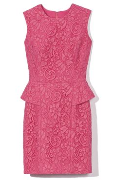 Lace, peplum and pink! Jason Wu Jewelneck Peplum Sheath