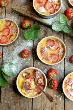 "Lavender and Lovage   Sensational Summer Strawberries! Strawberry ""Clafoutis"" (Custard Bakes)   http://www.lavenderandlovage.com"
