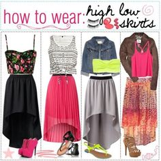 How To Wear High Low Skirts.