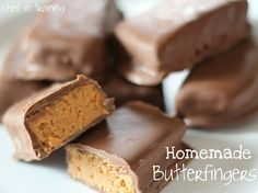 Homemade Butterfingers!... Only 3 Ingredients and they taste great!