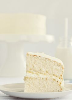 Fluffy Vanilla Cake with Whipped Vanilla Bean Frosting